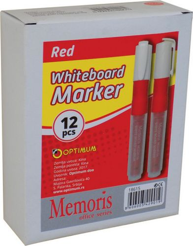 Marker za belu tablu crveni 1/12 Memoris