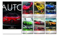 Kalendar zidni auto 6+1