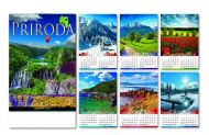 Kalendar zidni priroda 6+1