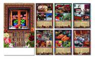 Kalendar zidni šarenica 6+1