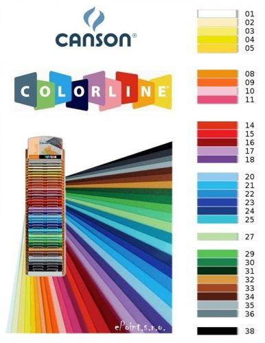 Karton Canson Colorline 50x70 220gr - siva - 36