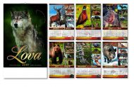 Kalendar zidni vreme lova 6+1