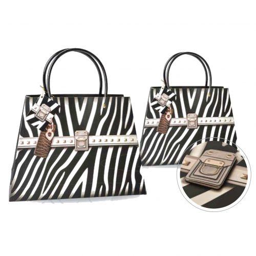 Kesa ukrasna zebra lux 23x32x10cm