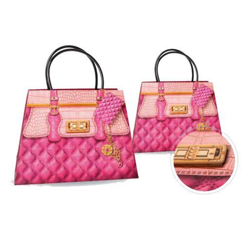 Kesa ukrasna pink lux 14x21x10cm