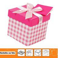 Kutija ukrasna na rasklapanje karirana narandžasta