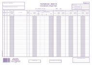 Popisna lista osnovnih sredstava A3 NCR