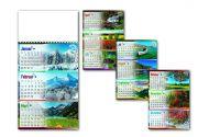 Kalendar zidni priroda 4L