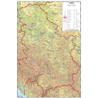 Karta Srbije školska u listu